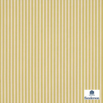 Sanderson Tiger Stripe DMUSTS201  | Upholstery Fabric - Gold, Yellow, Stripe, Traditional, Natural, Natural Fibre, Standard Width