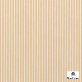 Sanderson Tiger Stripe DMUSTS203  | Upholstery Fabric - Orange, Stripe, Traditional, Natural, Natural Fibre, Standard Width
