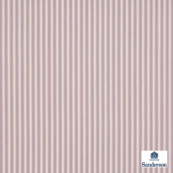 Sanderson Tiger Stripe DMUSTS204  | Upholstery Fabric - Pink, Purple, Stripe, Traditional, Natural, Natural Fibre, Standard Width