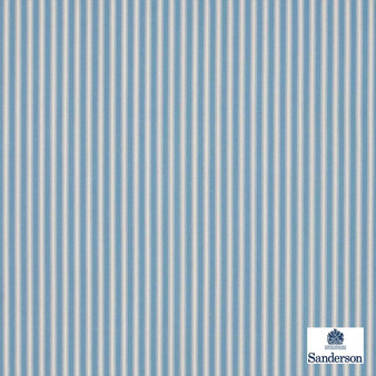 Sanderson Tiger Stripe DMUSTS205  | Upholstery Fabric - Blue, Stripe, Traditional, Natural, Natural Fibre, Standard Width