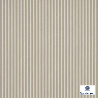 Sanderson Tiger Stripe DMUSTS206  | Upholstery Fabric - Brown, Stripe, Traditional, Natural, Natural Fibre, Standard Width