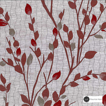 Maurice Kain Astoria 139cm - Cardinal  | Curtain Fabric - Brown, Floral, Garden, Botantical, Uncoated, Pattern, Standard Width
