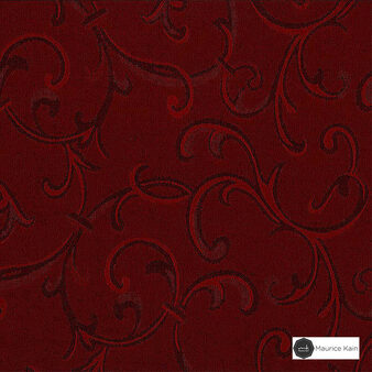 Maurice Kain Carousel 140cm - Tempting    Curtain Fabric - Red, Traditional, Uncoated, Scroll, Pattern, Fibre Blend, Standard Width