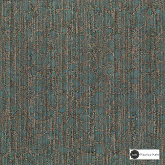 Maurice Kain Circulate 140cm - Patina  | Curtain Fabric - Green, Contemporary, Uncoated, Pattern, Organic, Fibre Blend, Standard Width