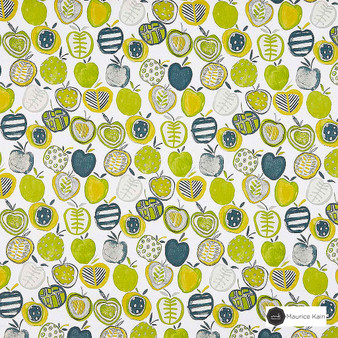 Maurice Kain Cobbler 138cm - Mojito  | Curtain Fabric - Green, Contemporary, Floral, Garden, Botantical, Uncoated, Kitchen, Natural, Pattern