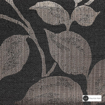 Maurice Kain Hazel 137cm - Cocoa  | Curtain Fabric - Brown, Contemporary, Floral, Garden, Botantical, Uncoated, Pattern, Fibre Blend, Standard Width