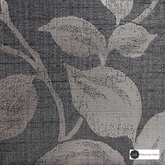 Maurice Kain Hazel 137cm - Coven  | Curtain Fabric - Black, Charcoal, Tan, Taupe, Contemporary, Floral, Garden, Botantical, Uncoated, Pattern