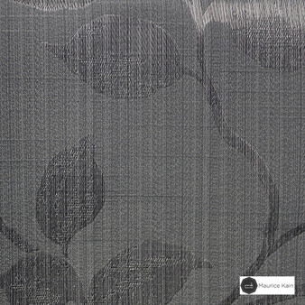 Maurice Kain Hazel 137cm - Mercury  | Curtain Fabric - Black, Charcoal, Contemporary, Floral, Garden, Botantical, Uncoated, Pattern, Fibre Blend