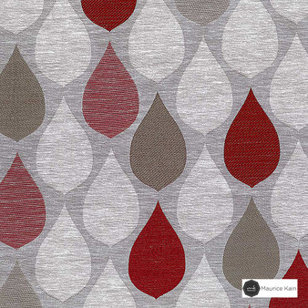 Maurice Kain Hilton 138cm - Cardinal  | Curtain Fabric - Red, Uncoated, Ogee, Pattern, Standard Width