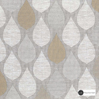 Maurice Kain Hilton 138cm - Sand  | Curtain Fabric - Beige, Uncoated, Ogee, Pattern, Standard Width