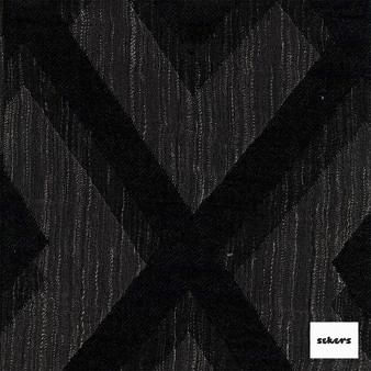Sekers Intrigue 295cm - Shadow  | Curtain Fabric - Black, Charcoal, Diamond, Harlequin, Uncoated, Wide-Width, Geometric