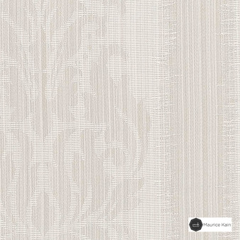 Maurice Kain Lannister 140cm - Snow  | Curtain Fabric - Stripe, Uncoated, Whites, Fibre Blend, Standard Width