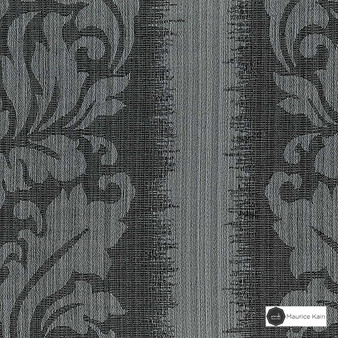 Maurice Kain Lannister 140cm - Steel  | Curtain Fabric - Black, Charcoal, Stripe, Uncoated, Fibre Blend, Standard Width