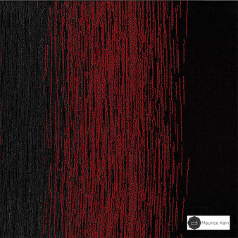 Maurice Kain Latitude 300cm - Ember    Curtain Fabric - Red, Stripe, Uncoated, Wide-Width