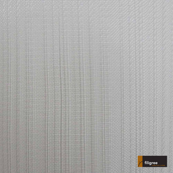 Filigree Mandeville 320cm - Silver  | Curtain Sheer Fabric - Fire Retardant, Stripe, Wide-Width, Silver, Plain