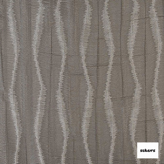 Sekers Moky Diamond 137cm - Smoke  | Curtain Sheer Fabric - Brown, Contemporary, Stripe, Uncoated, Chevron, Zig Zag, Fibre Blend, Standard Width