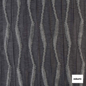 Sekers Moky Diamond 137cm - Steel  | Curtain Sheer Fabric - Black, Charcoal, Contemporary, Stripe, Uncoated, Chevron, Zig Zag, Fibre Blend