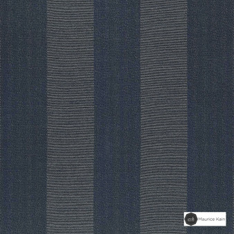 Maurice Kain Nevada B-Out 137cm - Slate  | Curtain Fabric - Blue, Contemporary, Stripe, Blockout, Blackout, Fibre Blend, Standard Width