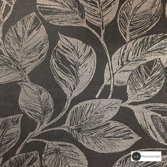 Maurice Kain Orlando 137cm - Charcoal  | Curtain Fabric - Black, Charcoal, Contemporary, Floral, Garden, Botantical, Uncoated, Pattern, Standard Width