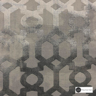 Maurice Kain Providence 139cm - Sol  | Curtain Fabric - Brown, Mediterranean, Uncoated, Geometric, Lattice, Trellis, Fibre Blend, Standard Width