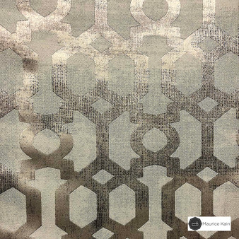 Maurice Kain Providence 139cm - Terra  | Curtain Fabric - Brown, Mediterranean, Uncoated, Geometric, Lattice, Trellis, Fibre Blend, Standard Width