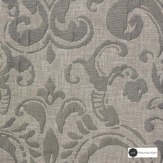Maurice Kain Sicily 137cm - Ash  | Curtain Fabric - Tan, Taupe, Traditional, Uncoated, Damask, Scroll, Pattern, Fibre Blend, Standard Width
