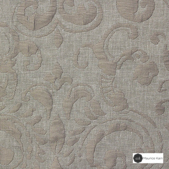 Maurice Kain Sicily 137cm - Buff  | Curtain Fabric - Brown, Traditional, Uncoated, Damask, Scroll, Pattern, Fibre Blend, Standard Width
