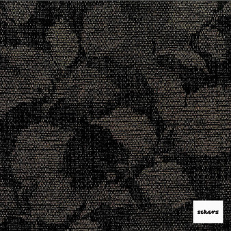 Sekers Soprano 140cm - Onyx  | Curtain Fabric - Black, Charcoal, Floral, Garden, Botantical, Uncoated, Pattern, Standard Width
