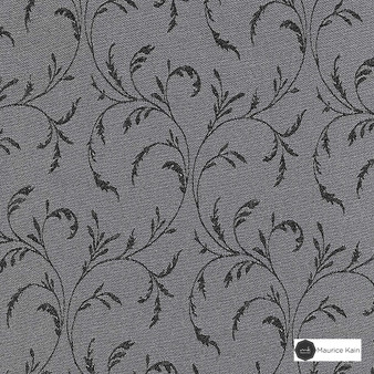 Maurice Kain Stratford 140cm - Stirling  | Curtain Fabric - Grey, Floral, Garden, Botantical, Traditional, Uncoated, Natural, Scroll, Pattern