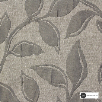 Maurice Kain Syracuse 137cm - Ash  | Curtain Fabric - Brown, Contemporary, Floral, Garden, Botantical, Uncoated, Pattern, Fibre Blend, Standard Width