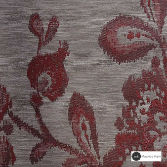 Maurice Kain Tempest 137cm - Scarlet  | Curtain Fabric - Red, Floral, Garden, Botantical, Uncoated, Standard Width