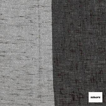 Sekers Zephyr 300cm - Bark  | Curtain Sheer Fabric - Black, Charcoal, Contemporary, Stripe, Wide-Width, Natural, Natural Fibre