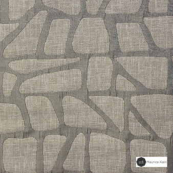 Maurice Kain Zingaro 137cm - Ash  | Curtain Fabric - Beige, Contemporary, Uncoated, Geometric, Mosaic, Fibre Blend, Standard Width