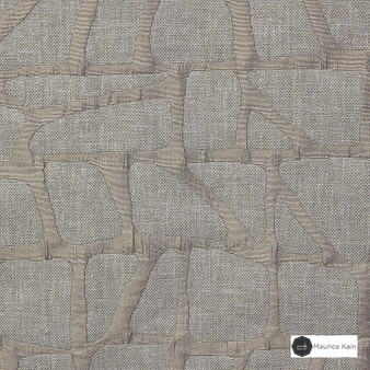 Maurice Kain Zingaro 137cm - Buff  | Curtain Fabric - Tan, Taupe, Contemporary, Uncoated, Geometric, Mosaic, Fibre Blend, Standard Width