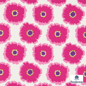 Sanderson Papavera 224613  | Upholstery Fabric - Pink, Purple, Floral, Garden, Botantical, Geometric, Natural, Natural Fibre, Standard Width