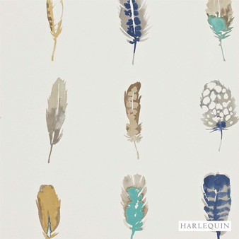 Harlequin Limosa 111075  | Wallpaper, Wallcovering - Fire Retardant, Blue, Contemporary, Animals, Fauna, Feathers