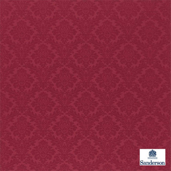 Sanderson Lymington Damask 232601  | Upholstery Fabric - Red, Traditional, Damask, Natural, Natural Fibre, Standard Width