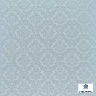 Sanderson Lymington Damask 232603  | Upholstery Fabric - Blue, Traditional, Damask, Natural, Natural Fibre, Standard Width