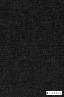 Pegasus Cavalier - Onyx  | Curtain Sheer Fabric - Plain, Black - Charcoal, Natural Fibre, Washable, Domestic Use, Dry Clean, Natural, Standard Width