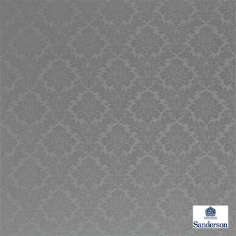 Sanderson Lymington Damask 232612  | Upholstery Fabric - Grey, Traditional, Damask, Natural, Natural Fibre, Standard Width