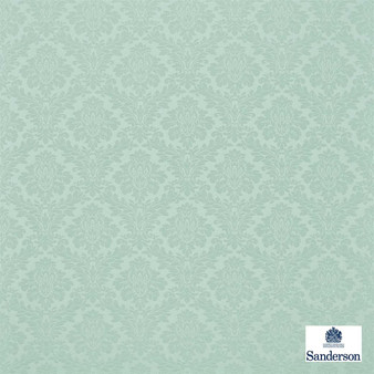 Sanderson Lymington Damask 232619  | Upholstery Fabric - Blue, Traditional, Damask, Natural, Natural Fibre, Standard Width