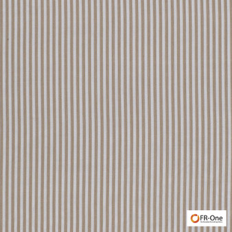 Fr One Fabrics - Layout Fr Otter  | Curtain & Upholstery fabric - Brown, Fire Retardant, Stripe, Synthetic, Commercial Use, Oeko-Tex,  Wide Width