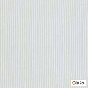 Fr One Fabrics - Layout Fr Cream  | Curtain & Upholstery fabric - Fire Retardant, White, Stripe, Synthetic, Commercial Use, Oeko-Tex, White, Wide Width