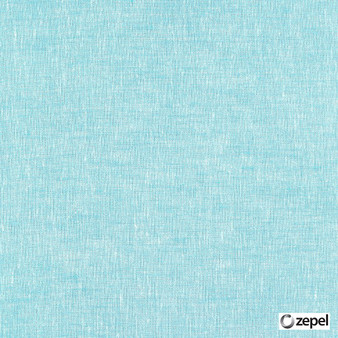 Zepel Fabrics - Allusion Cascade  | Curtain & Upholstery fabric - Blue, Plain, Natural Fibre, Commercial Use, Domestic Use, Natural, Oeko-Tex,  Wide Width