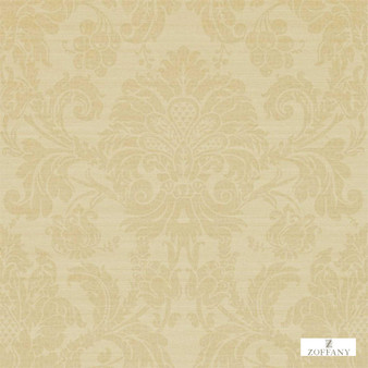 Zoffany Crivelli ZCDW02001  | Wallpaper, Wallcovering - Fire Retardant, Gold, Yellow, Traditional, Damask