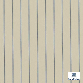 Sanderson Annis 232648  | Upholstery Fabric - Blue, Tan, Taupe, Stripe, Traditional, Fibre Blend, Standard Width