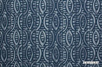 Travers Yorkshire Charleston - 44097/559  | Curtain Fabric - Blue, Eclectic, Standard Width