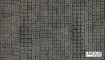 Unique Fabrics Zambesi Kirubi - Stone  | Curtain & Upholstery fabric - Black, Charcoal, Eclectic, Natural, Small Scale, Natural Fibre, Standard Width