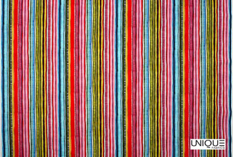 Unique Fabrics Power Stripe - Ivory  | Curtain & Upholstery fabric - Pink, Purple, Stripe, Eclectic, Natural, Strie, Natural Fibre, Standard Width
