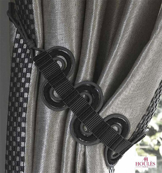 Houles Neox 35319 Neox Wave Tieback - 35319.9025  | Tie back, Curtain Accessory - Grey, Contemporary, Trimmings, Tie-Back, Fibre Blend